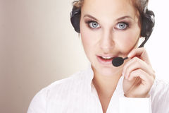 Hotline operator Royalty Free Stock Photography