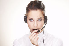 Hotline operator Royalty Free Stock Photos