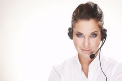 Hotline operator Stock Photo