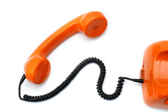 Hotline orange telephone Royalty Free Stock Photo