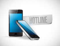 Hotline phone message illustration design Stock Photo
