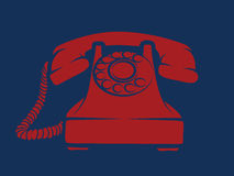 Hotline Red Phone Illustration Stock Images