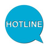 Hotline with shadow, Speech Bubble Stock Images