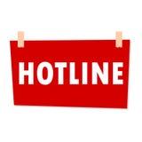 Hotline Sign - illustration Stock Images