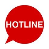 Hotline, Speech Bubbles Royalty Free Stock Photography