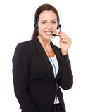 Hotline support agent Royalty Free Stock Photography