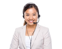 Hotline support operator Royalty Free Stock Photo