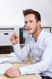 Hotline van de steun vraag-agent in vraag Royalty-vrije Stock Foto's