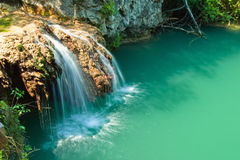 Hotnica Waterfall. Waterfall near the village Hotnica, close to Veliko Tarnovo, Bulgaria Royalty Free Stock Photos