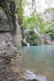 Hotnitsa vattenfall, Veliko Tarnovo område Royaltyfri Foto