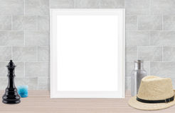 Hoto frame gray background. Blank photo frame gray background royalty free stock image