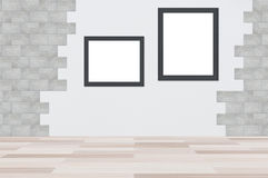 Hoto frame gray background. Blank photo frame gray background Royalty Free Stock Photography
