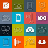 Hotography Icons Set Stock Images