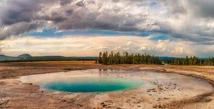 Hotpools przy Yellowstone parkiem narodowym zdjęcie royalty free
