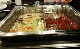 Hotpot - comida de Sichuan del chino fotos de archivo libres de regalías