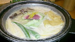 Hotpot full of ingredients Royalty Free Stock Images