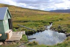Hotpot géothermique reculé en Islande Image libre de droits