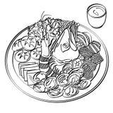 Hotpot jedzenie ilustracja wektor