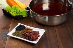 Hotpot picante chino fotos de archivo