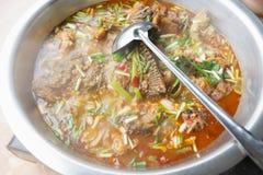Hotpot picante de los pescados Fotos de archivo