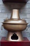 Fire pot. Dinnerwares called hotpot on the wall,Kuai Zhai Zane,Chengdu Royalty Free Stock Images