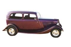 hotrod紫色轿车 库存照片