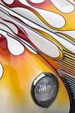 Hotrod Abstract Flames. A close up of a hot rod with flames Royalty Free Stock Photo