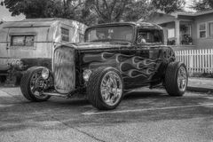 HotRod  in Black and white HDR Royalty Free Stock Image