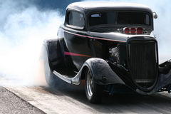 Hotrod Burnout Stockbild