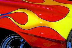 Hotrod con le fiamme Fotografia Stock Libera da Diritti