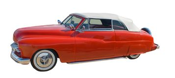 Hotrod convertibile rosso fotografie stock