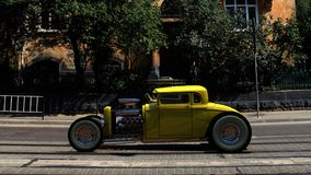 hotrod 3d rendem Fotos de Stock