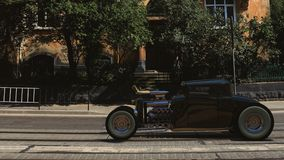 hotrod 3d rendent Photo stock