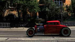 hotrod 3d rendent Photographie stock