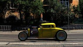 hotrod 3d rendono Fotografie Stock
