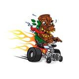Hotrod del fumetto di Tiki Mask Fotografia Stock