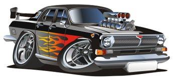 Hotrod retro de la historieta del vector Fotografía de archivo libre de regalías