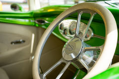 Hotrod steering wheel Royalty Free Stock Photography