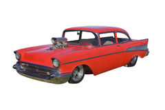Hotrod vermelho do supercharger Imagem de Stock