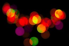 Hotspot. Bright multicolored light on the background chrnom Royalty Free Stock Images