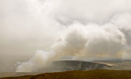 Hotspot i Volcanoes nationalpark, Hawaii royaltyfri foto