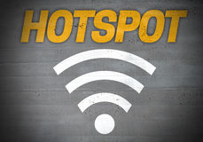 Hotspot icon concept background Royalty Free Stock Image