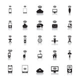 Hotspot Icons Wireless vector Royalty Free Stock Image