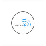 Hotspot solid icon, mobile sign and wifi zone Royalty Free Stock Photography