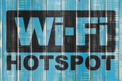 Hotspottecken för Wi Fi Fotografering för Bildbyråer