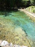 Hotspring της Ταϊλάνδης μπλε πέτρα φύσης Στοκ Εικόνες