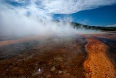 Hotspring de Yellowstone image stock