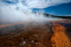 Hotspring of Yellowstone. One of the many hotsprings and thermal features in Yellowstone NP Stock Image