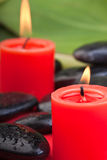 Hotstones with red candles (1) Stock Images