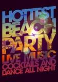 Hottest beach party design. Stock Photos